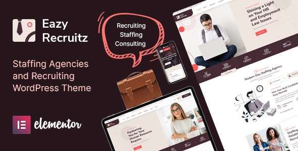 Eazy Recruitz - Staffing Agencies WordPress Theme - Business Corporate