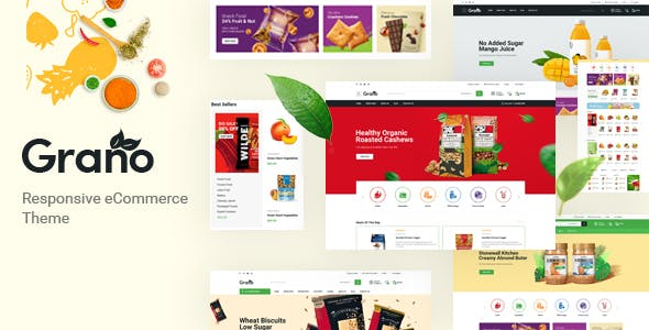 Grano - Organic & Food Opencart Theme (Included Color Swatches)