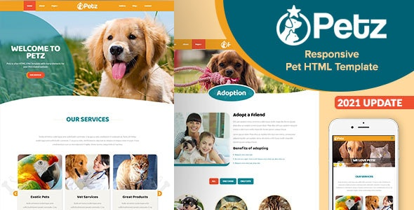 Petz - Responsive HTML Template - Business Corporate
