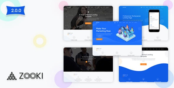 Zooki - Bootstrap 5 Landing Page Template - Landing Pages Marketing
