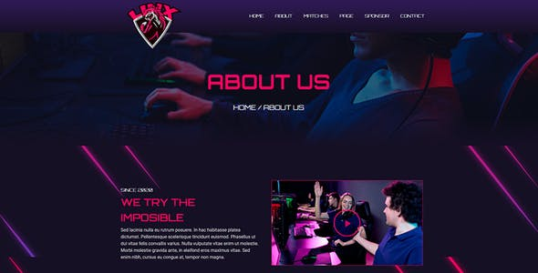 Linx - Esport & Gaming Elementor Template Kit