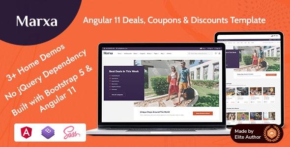 Marxa - Angular 11 Deals Coupons & Discounts Template - Marketing Corporate