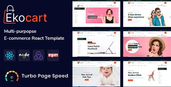 Ekocart- Multi-purpose E-commerce React Template