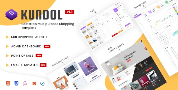 Kundol - Bootstrap Multipurpose Shopping Template with Admin Panel and Point of Sale - Shopping Retail