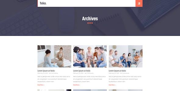 Teko - Creative Agency Template Kit