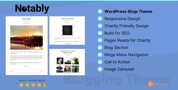 Notably - A WordPress Blogging Theme - Personal Blog / Magazine