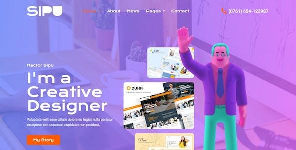 Sipu - Creative Portfolio Elementor Template Kit