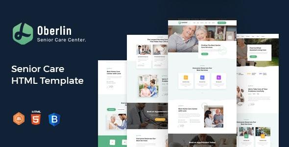 Oberlin - Senior Care HTML Template - Health & Beauty Retail