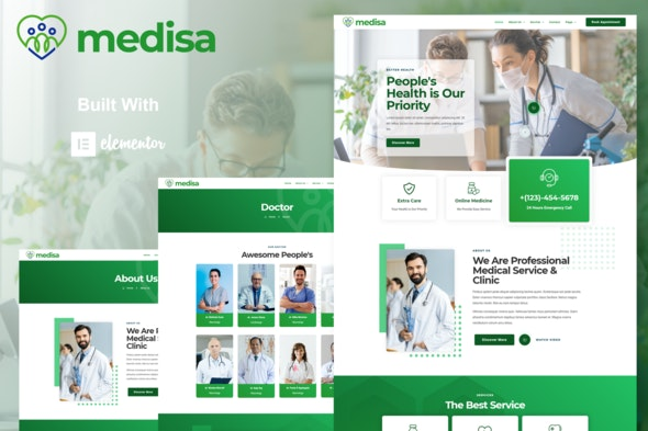Medisa - Medical Elementor Template Kit - Health & Medical Elementor