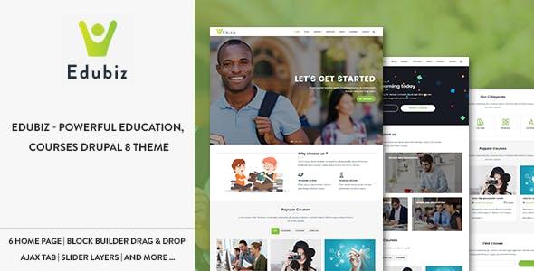 Edubiz - Powerful Education, Courses Drupal 9 Theme