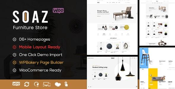Soaz - Furniture Store WooCommerce WordPress Theme (Mobile Layout Ready) - WooCommerce eCommerce