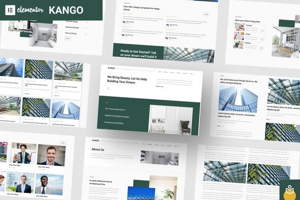 Kango - Architecture Elementor Template Kits - Real Estate & Construction Elementor