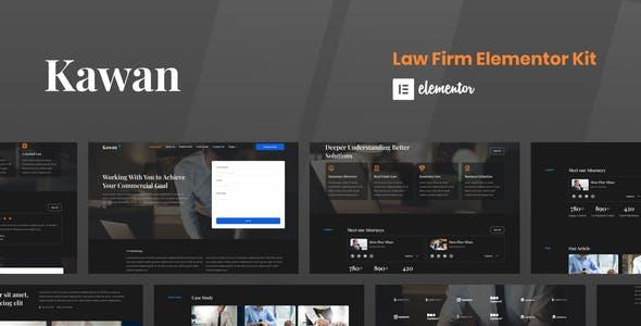 Kawan - Law Firm Elementor Template Kit