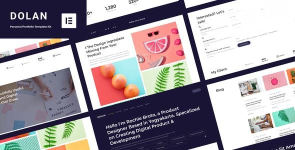 Dolan - Personal Portfolio Elementor Template Kit