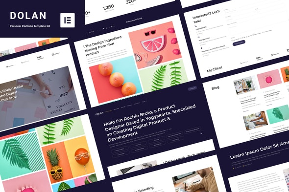 Dolan - Personal Portfolio Elementor Template Kit - Personal & CV Elementor