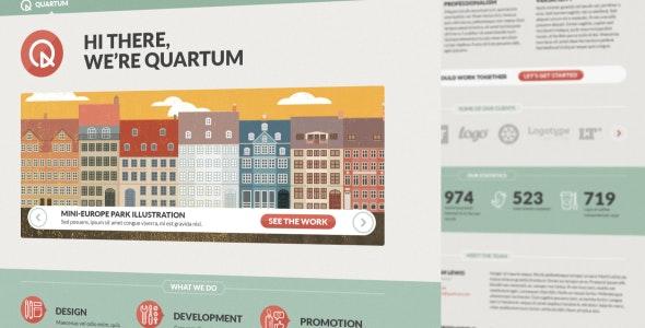 Quartum PSD Template - Portfolio Creative