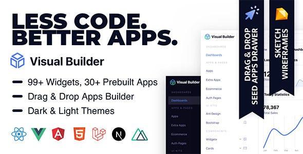 Visual Builder UI — Modular Multi Concept Admin Template with App Builder