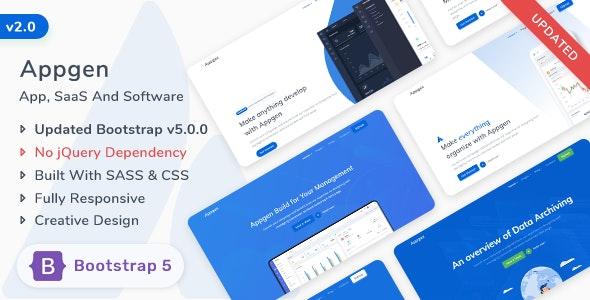 Appgen - App, Saas & Software Bootstrap 5 Landing Page Template - Software Technology