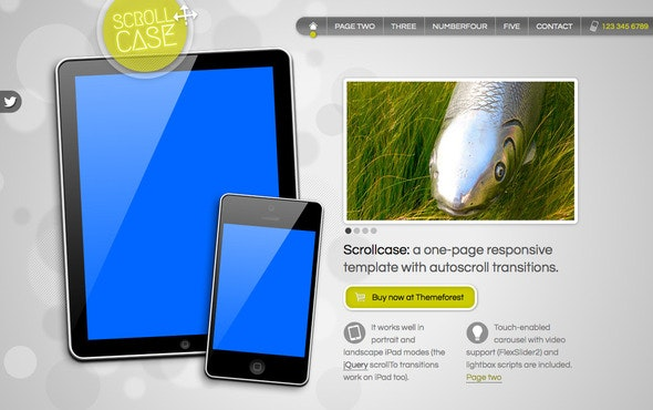 Scrollcase: Single Page App Showcase, 2D Scrolling - Creative Site Templates