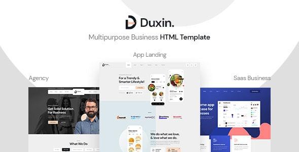 Duxin - Multipurpose Business HTML Template - Creative Site Templates