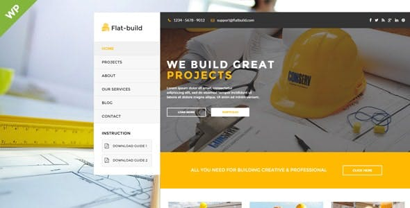 Flatbuild - Construction Business Wordpress Theme