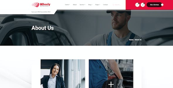 Wheely - Wheel Services & Sales PSD Template