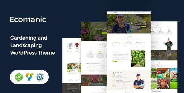 Ecomanic - Gardening and Landscaping WordPress Theme - Business Corporate