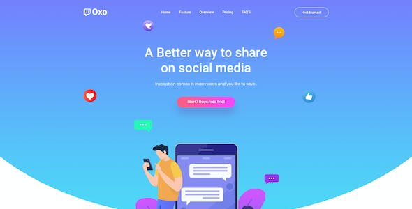 OXO - App Landing Page