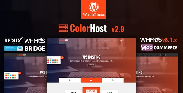 ColorHost   Responsive Web Hosting and WHMCS WordPress Theme - Hosting Technology