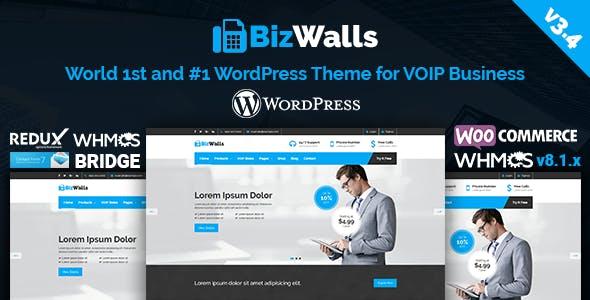 BizWalls | Responsive VOIP & Virtual Phone Business WordPress Theme