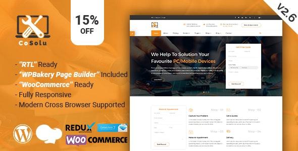 CoSolu | Multipurpose Servicing and Repairing WordPress Theme - Technology WordPress