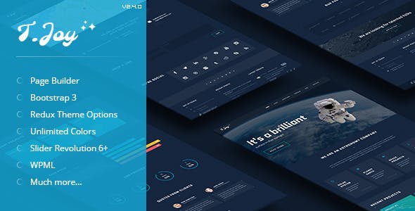 T.Joy - Astronomy WordPress Theme