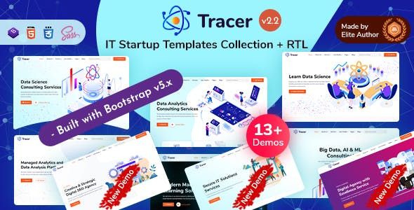 Tracer - IT Startup Templates Collection