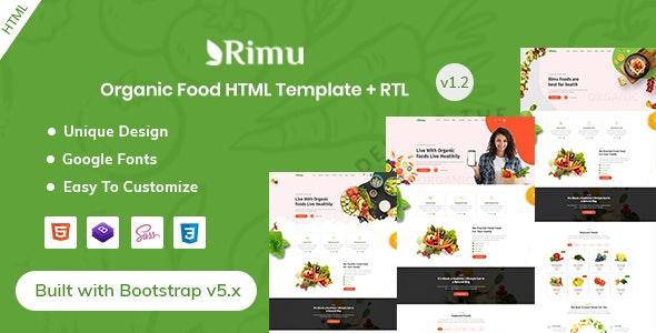 Rimu - Organic Food & Farming HTML Template - Retail Site Templates