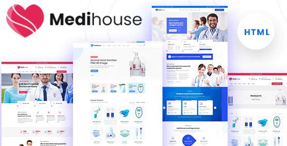 Medihouse - Hospital Medical Caregiver HTML Template