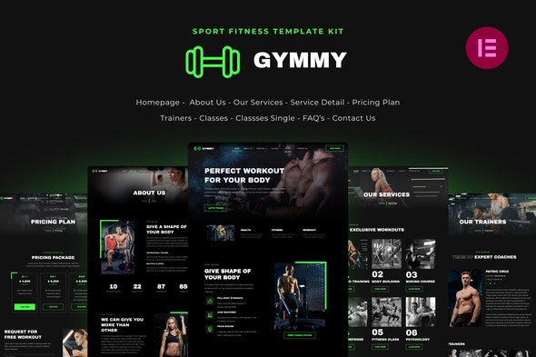 Gymmy | Sport & Fitness Elementor Template Kit - Sport & Fitness Elementor