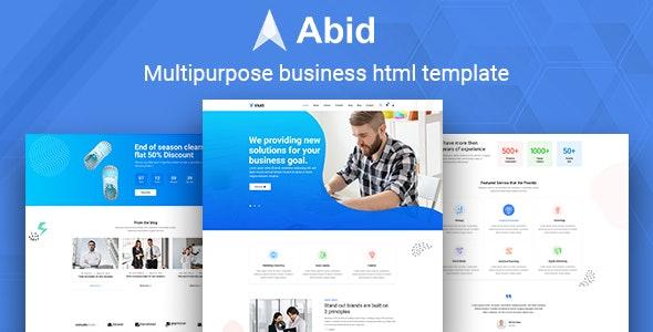 Abid - Multipurpose business HTML template - Business Corporate
