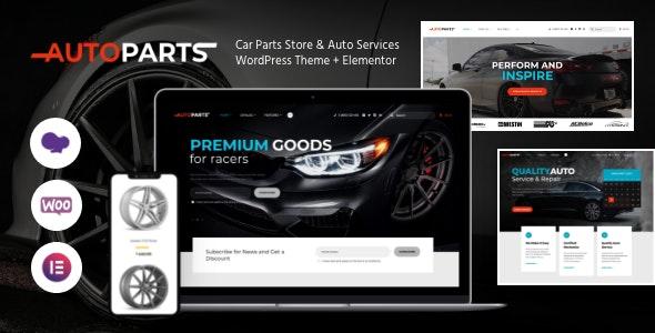 Car Parts Store & Auto Services WordPress Theme + Elementor - Retail WordPress