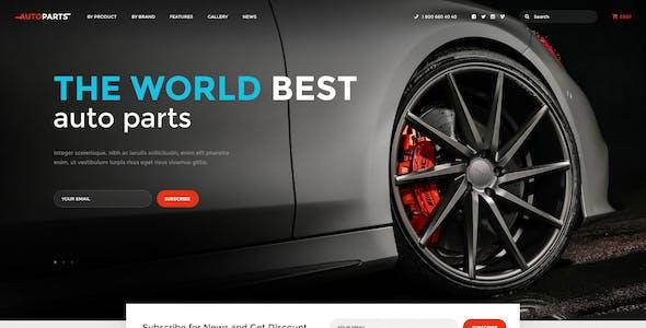 Car Parts Store & Auto Services WordPress Theme + Elementor