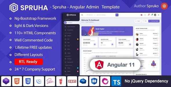 Spruha - Angular Admin & Dashboard Template