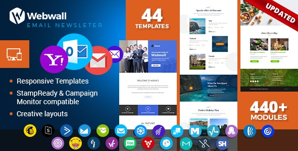 Webwall - Multipurpose Email Template V13 - Newsletters Email Templates