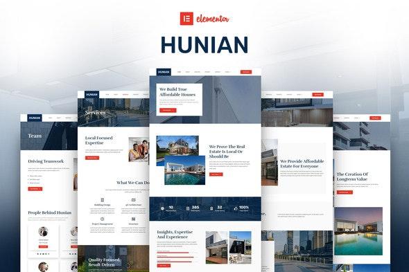 Hunian - Real Estate Elementor Template Kit - Real Estate & Construction Elementor