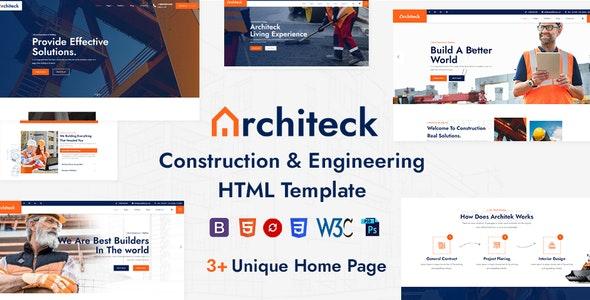Architeck - Construction HTML5 Template - Corporate Site Templates