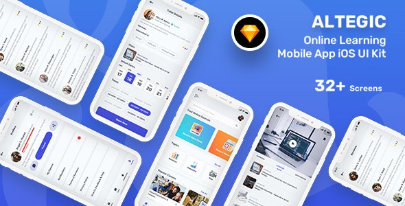 Altegic - Online Learning Mobile App UI - Miscellaneous Sketch