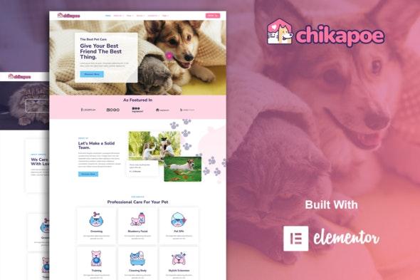 Chikapoe - Pet Care & Veterinary Elementor Template Kit - Health & Medical Elementor