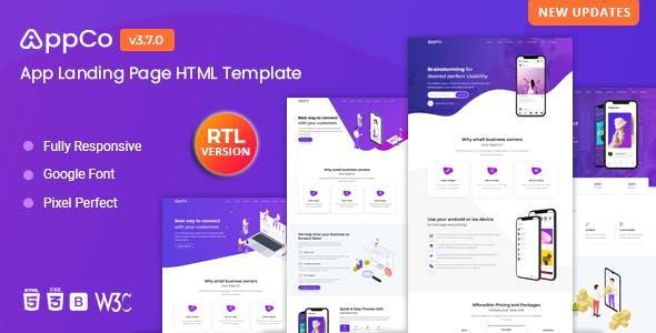 AppCo - App Landing Page Template