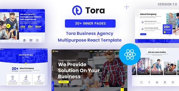 Tora : Corporate Business React Template - Corporate Site Templates
