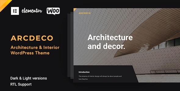 Arcdeco - Architecture Interior WordPress Theme - Portfolio Creative