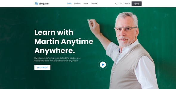 Eduguard - Education & Online Course Template for Figma