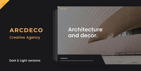 Arcdeco - Creative Agency HTML5 Template